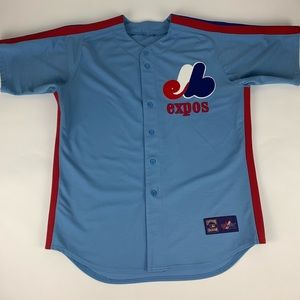 Montreal Expos MLB Majestic Cooperstown Jersey